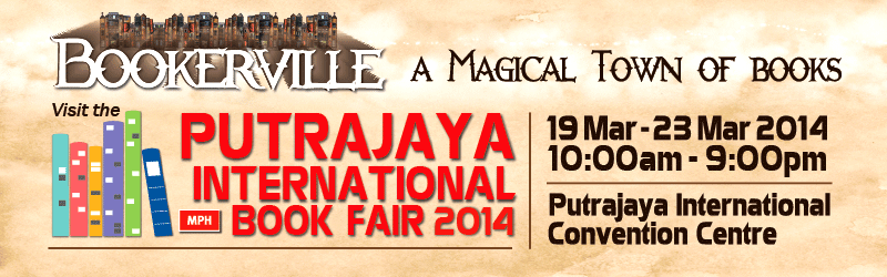 Putrajaya International Book Fair 2014, pibf2014, bookerville, a magical town of books, putrajaya, bookfair, MPH Bookstores