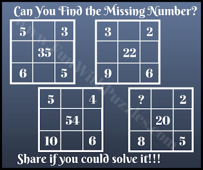 Very Tough Maths brain teaser picture puzzle