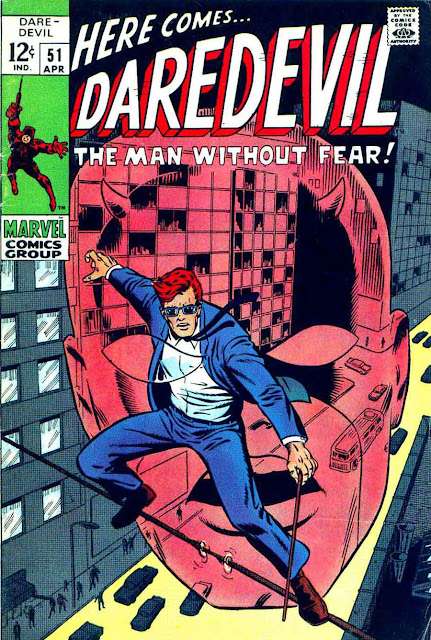 Daredevil v1 #51 marvel 1960s silver age comic book cover art by Barry Windsor Smith