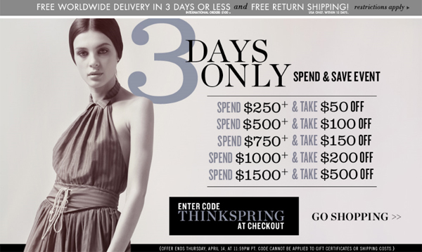 High Gloss Fashion Giveaway Winner + Shopbop 3-Day Spend & Save Event