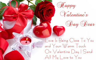 Valentine day card with romantic love quote