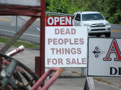 Funny Sign Dead Peoples Things For Sale