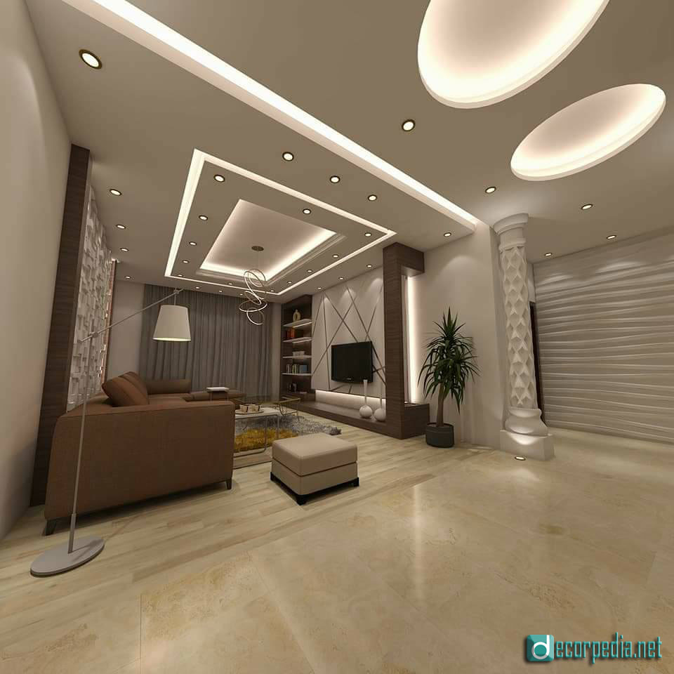 New Home Designs Latest Modern Interior Decoration Living Rooms Ceiling Designs Ideas: Latest False Ceiling Design Ideas For Modern Room 2019
