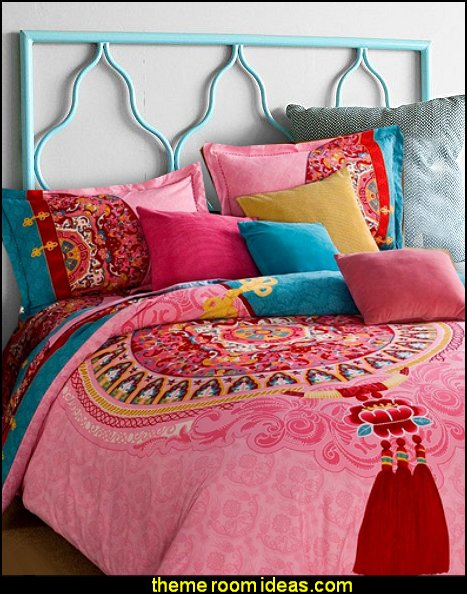 Moroccan Headboard in Blue Bohemian Bedding Boho Bedding