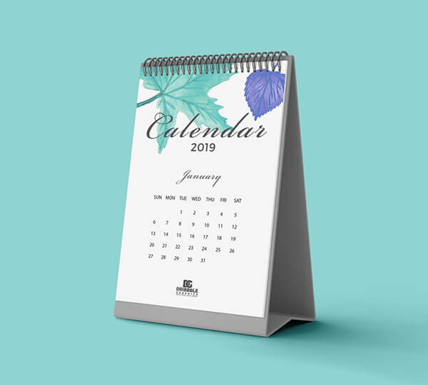 Mockup PSD Kalender 2019 Terbaru - Free Calendar Mockup 2019
