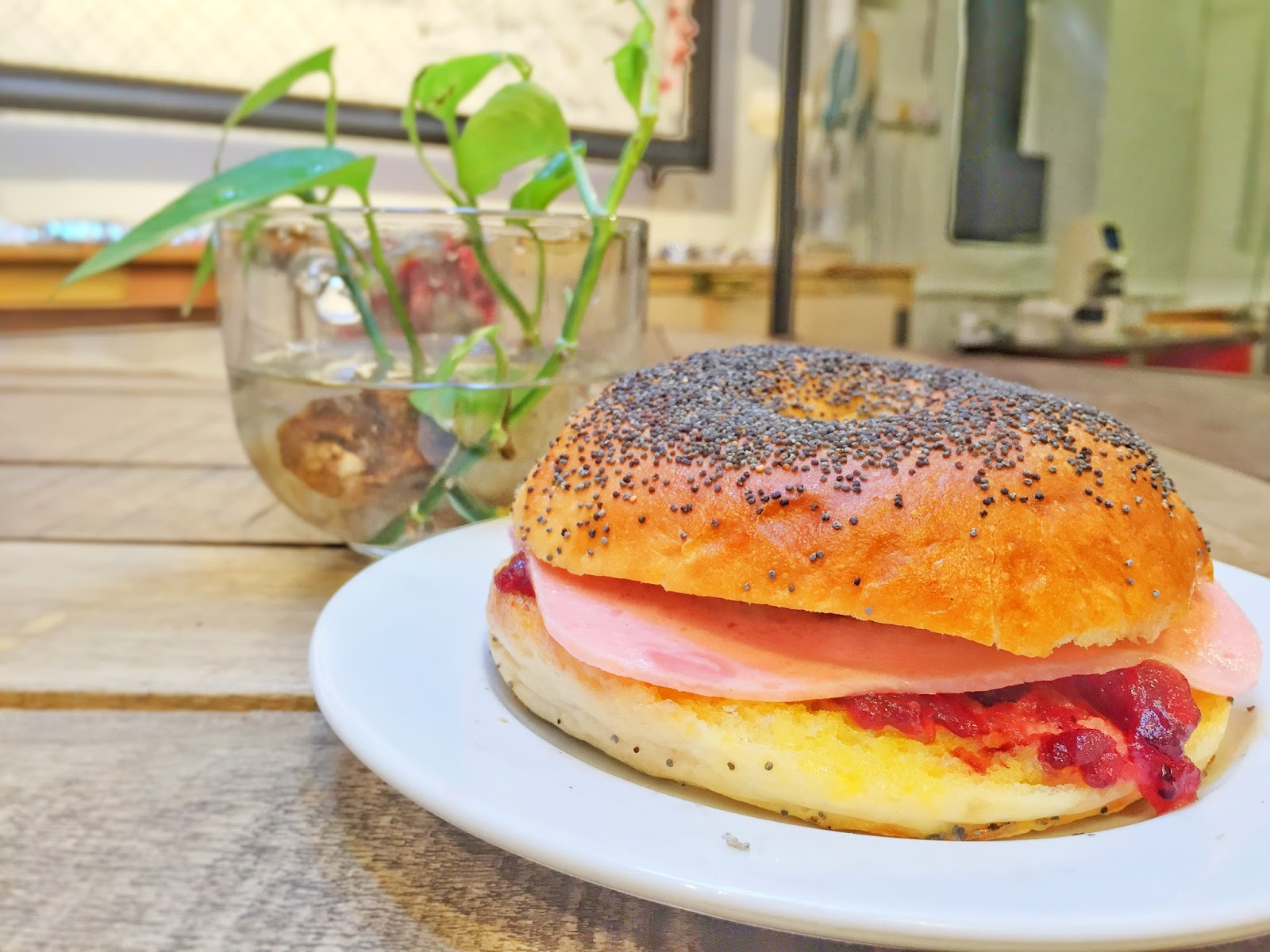Penang Cafes - The Mugshot Cafe Bagel Muffin