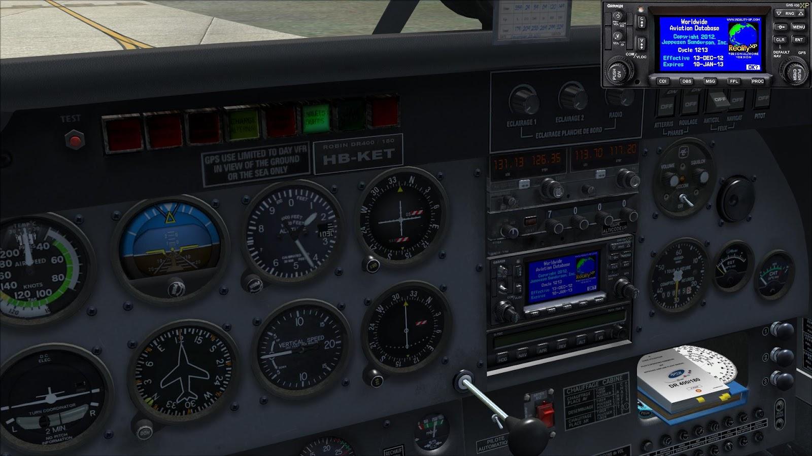 Petit Pilote Loisir: Garmin GNS430 WAAS de RealityXP