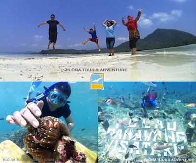 selfie underwater di pahawang eloratour