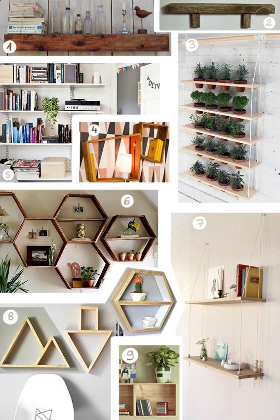 5 id es d 39 tag res en bois faire soi m me. Black Bedroom Furniture Sets. Home Design Ideas
