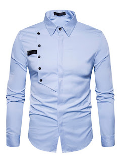 Single-Breasted Unique Slim Men's Shirt