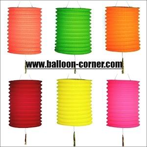 Lampion Gantung Kertas Model Tabung / Silinder Polos