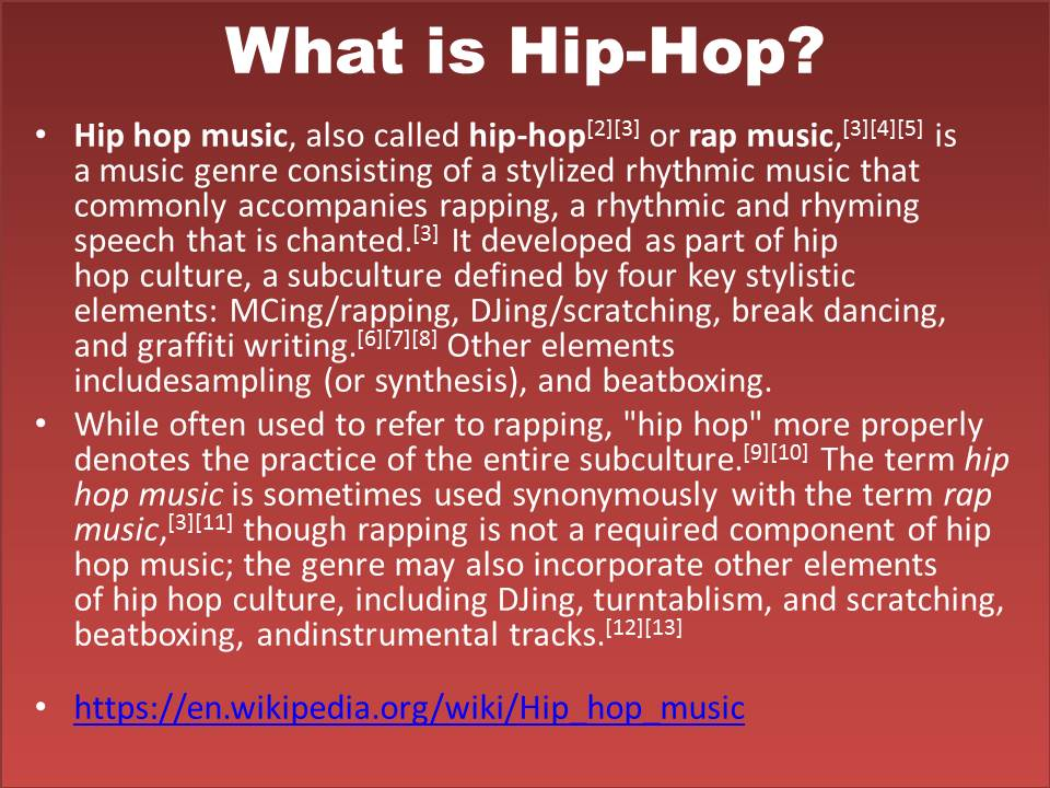 what hip hop means to me