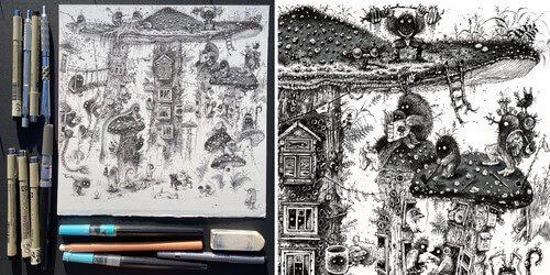 00-Monika-Mitkute-Creature-Drawings-www-designstack-co