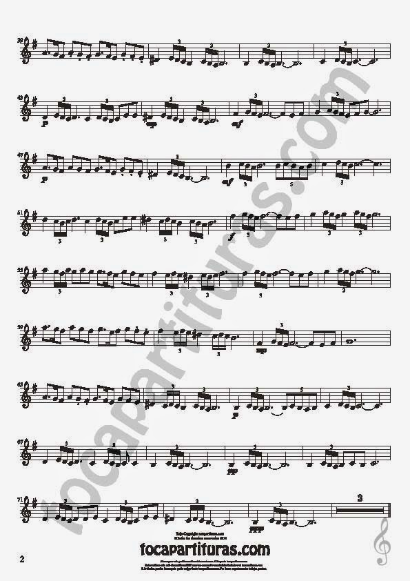 2  Bulería Lenta Partitura de Clarinete Sheet Music for Clarinet Music Score Flamenco