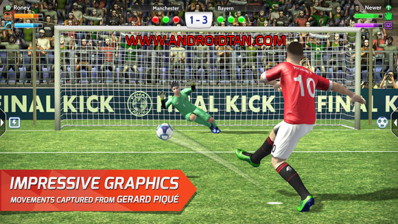 Final kick: Online Football Mod Apk Obb Data Money and Coins