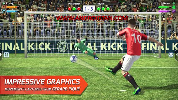 Final kick: Online Football Mod Apk Obb Data Money and Coins