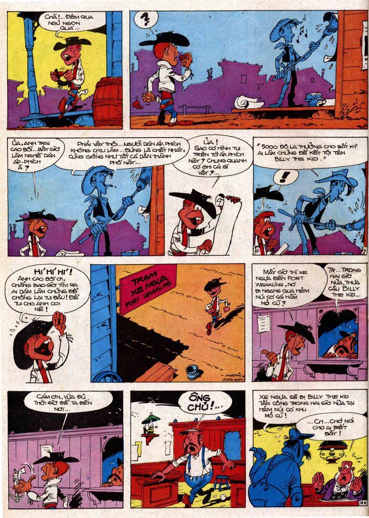 Lucky Luke tap 7 - ten billy the kid trang 14