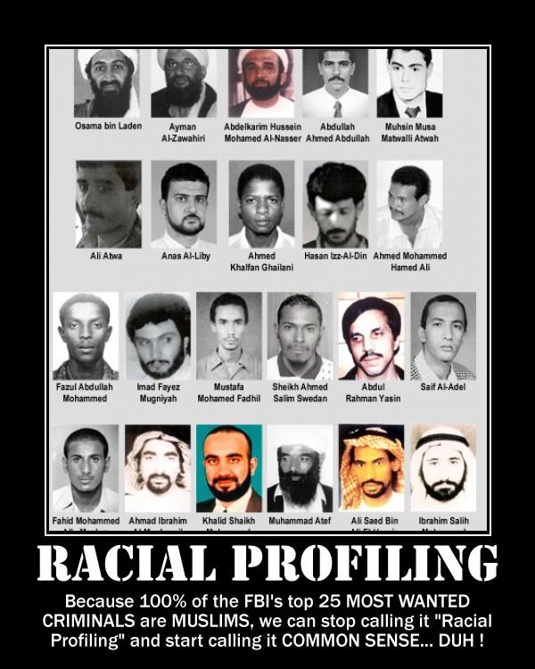 motivational posters  racial profiling