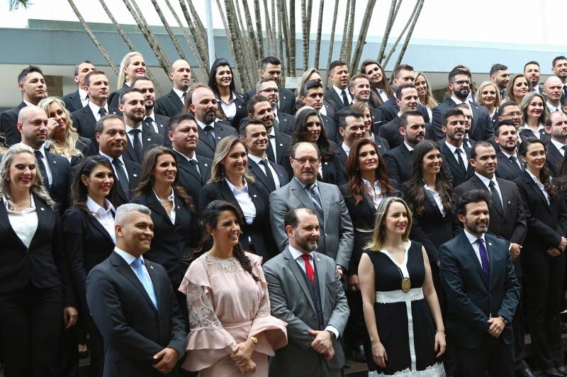 Paraninfo da turma, Sartori prestigiou a formatura em nova medida do Estado para reforçar a Segurança Pública - Foto: Luiz Chaves/Palácio Piratini