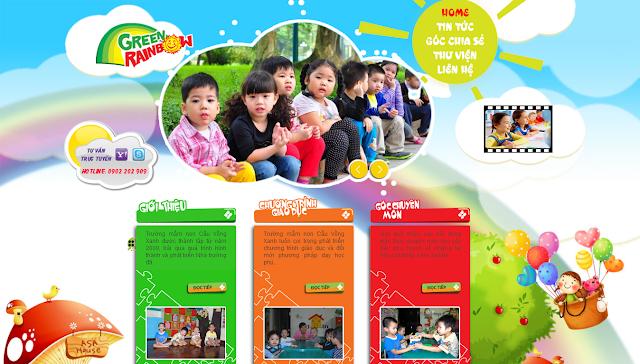 Thiết kế website giáo dục, trường học, đào tạo