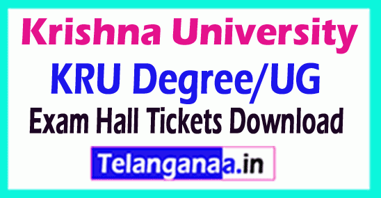 Krishna University KRU Degree/Ug Exam Hall Tickets