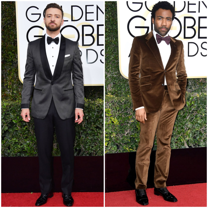 bbloggers, bbloggersca, canadian beauty bloggers, 2017 golden globes, best dressed, celebrities, red carpet, awards season, men, justin timberlake, donald glover, gucci, tom ford, fashion, style