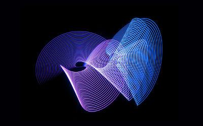 Sombres Vagues Bleues - Fond d'Écran en Quad HD 1440p