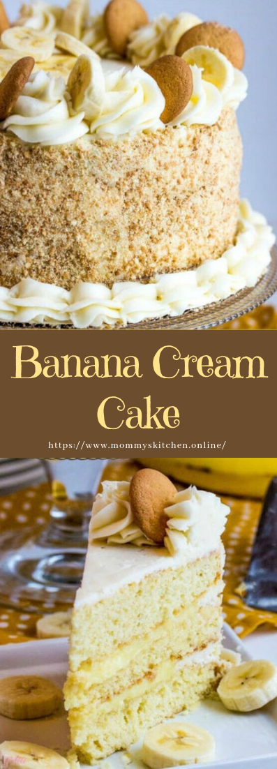 Banana Cream Cake #recipe #cheesecake