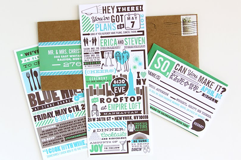 New Wedding Invitation Designs: Dapper Paper Is Now Good South: NEW CUSTOM WEDDING