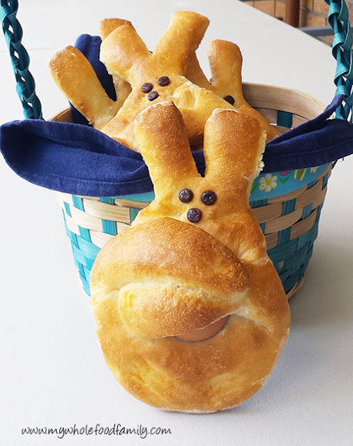 Most Popular Recipe of the Week | Dutch Easter Bunny Bread from My Wholefood Family #bread #SecretRecipeClub #recipe #egg