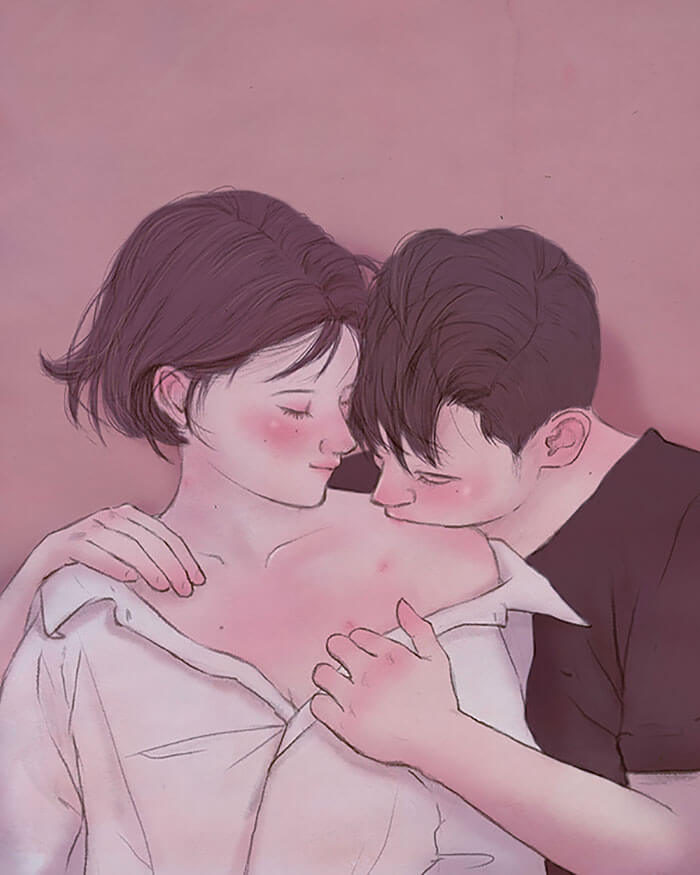 22 Beautiful Illustrations That Prove The Magic Of Love - Loving Those Small Kisses
