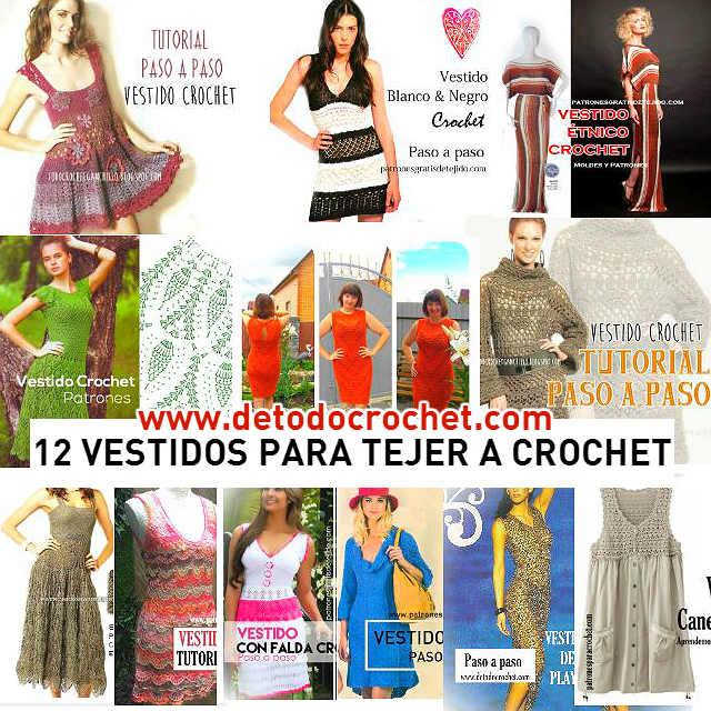 vestidos patrones y tutoriales para tejer con ganchillo