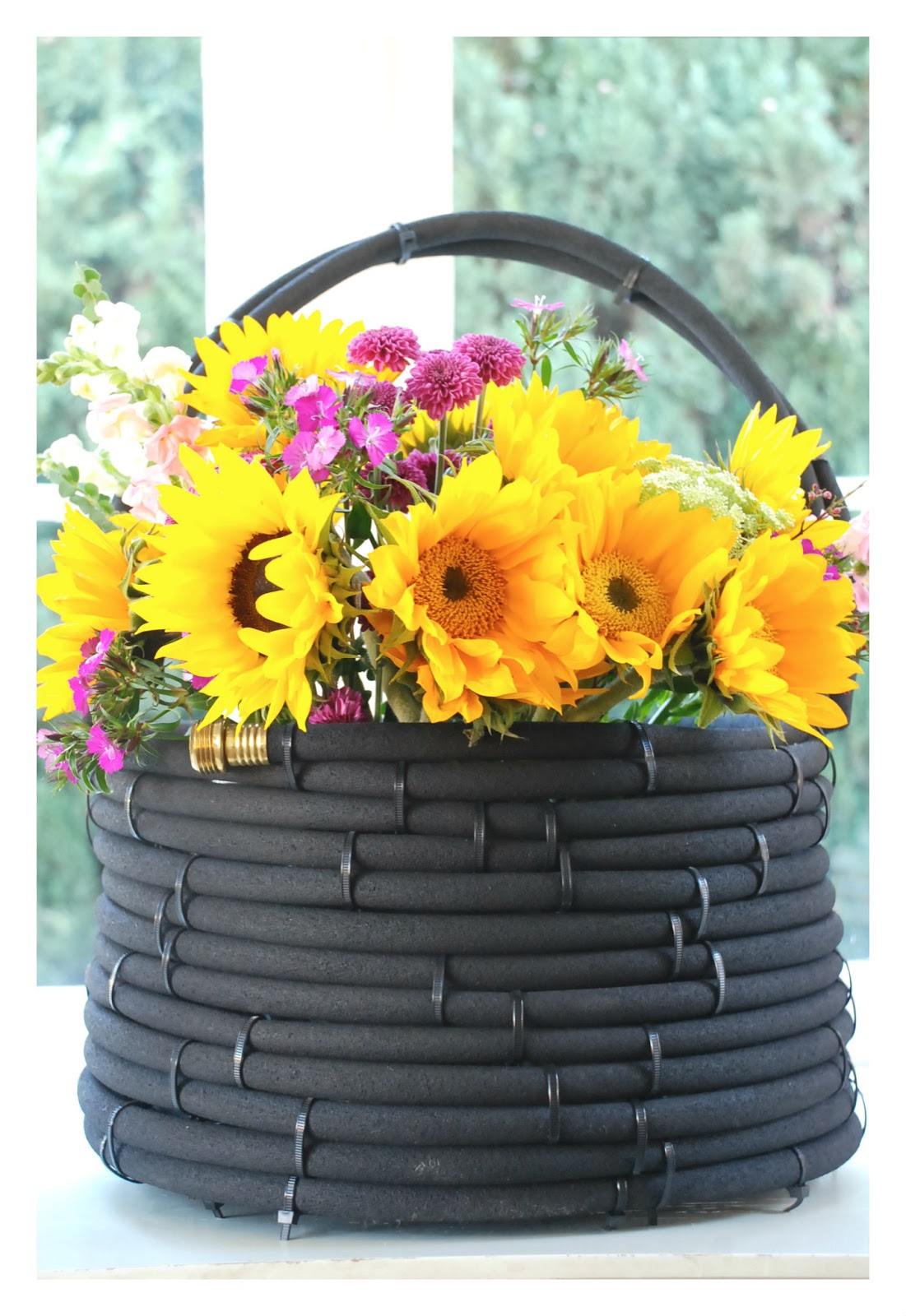 This American Home: Simple Giving: DIY Hose Basket