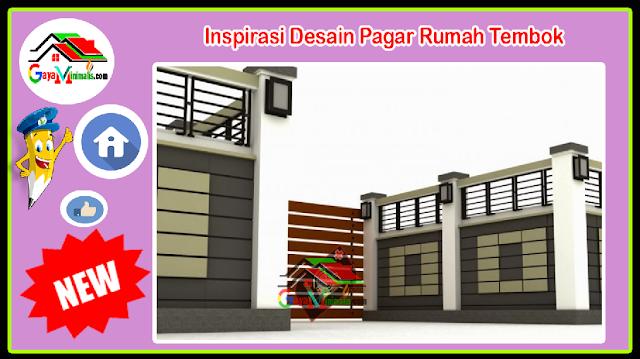 Inspirasi Desain Pagar Rumah Tembok
