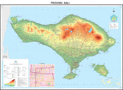 Peta Administrasi Provinsi Bali tahun 2002