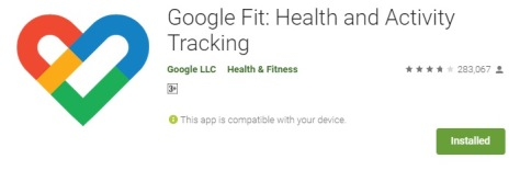 best fitness app google fit