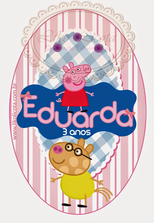 rótulos personalizados festa infantil peppa pig