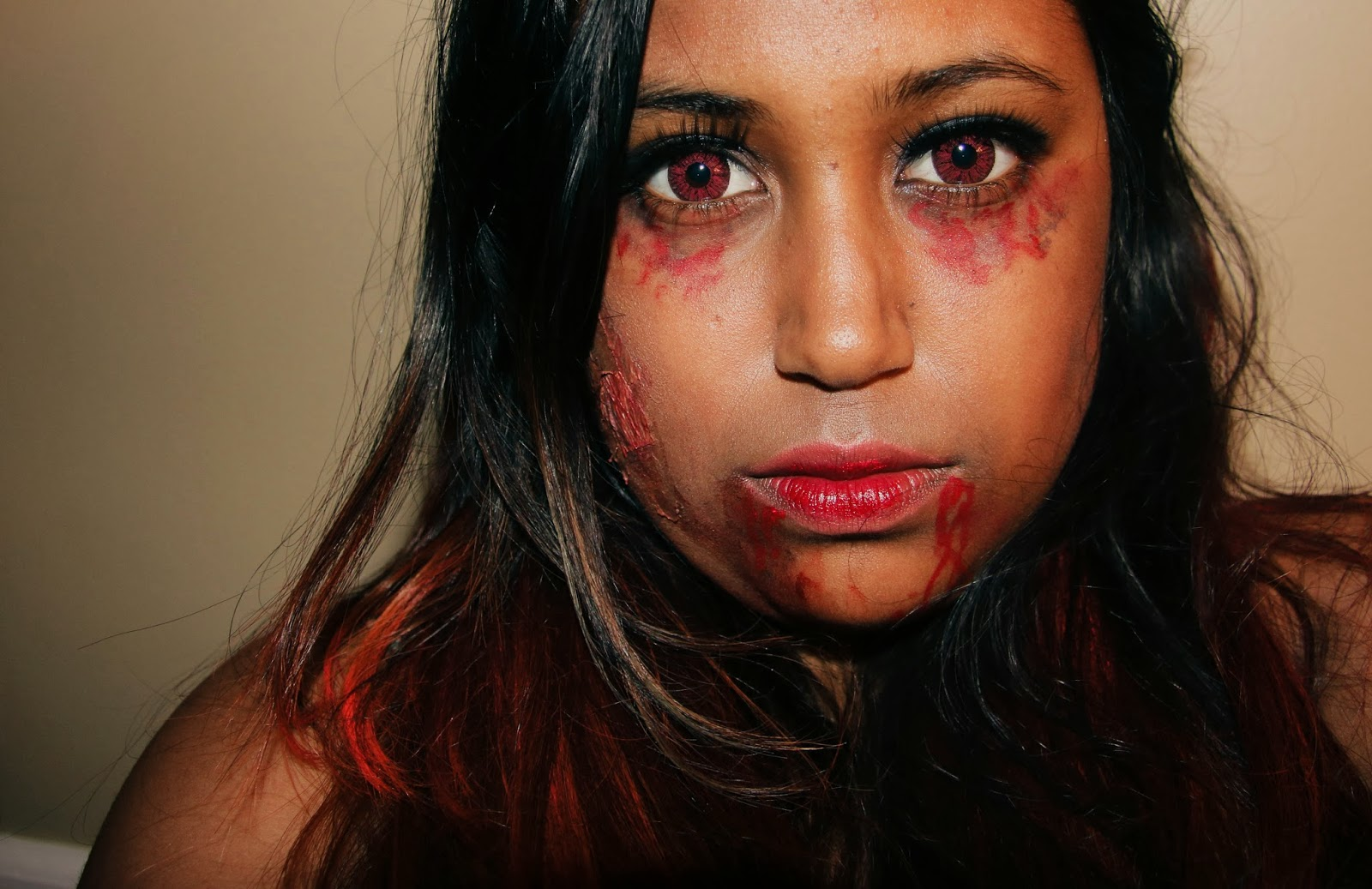 halloween makeup - elena gilbert from the vampire diaries inspired