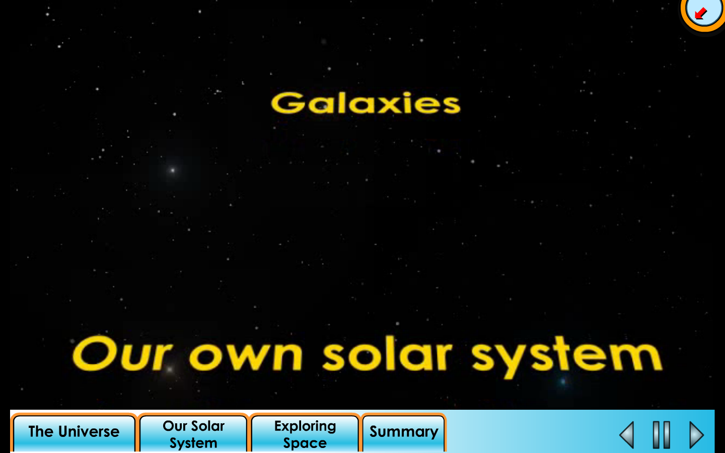 Star Wars theme solar system lecture