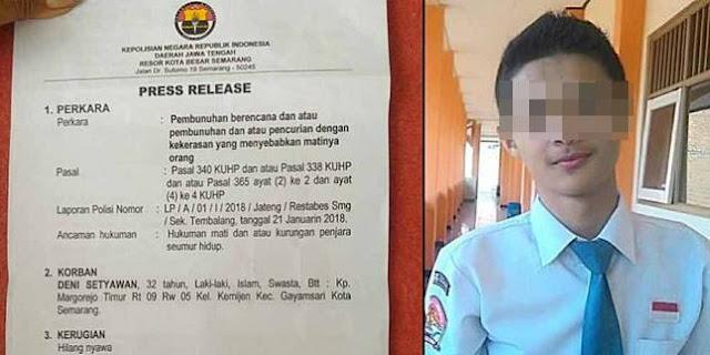 Bahaya Hedonisme Diduga Jadi Penyebab Anak SMK Nekat Bunuh Sopir Taksi Online