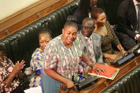 Drama as Female Politician Weeps Profusely After a Police Officer Allegedly Fondled Her Breasts & Buttocks (Photos)
