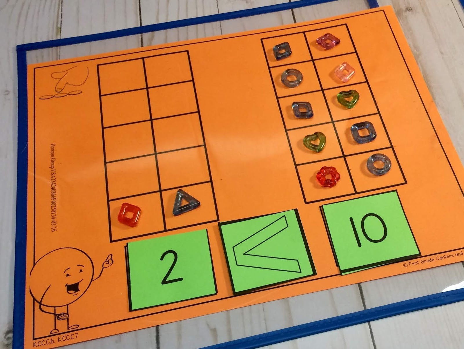 First Grade Centers And More Guided Math Mats For