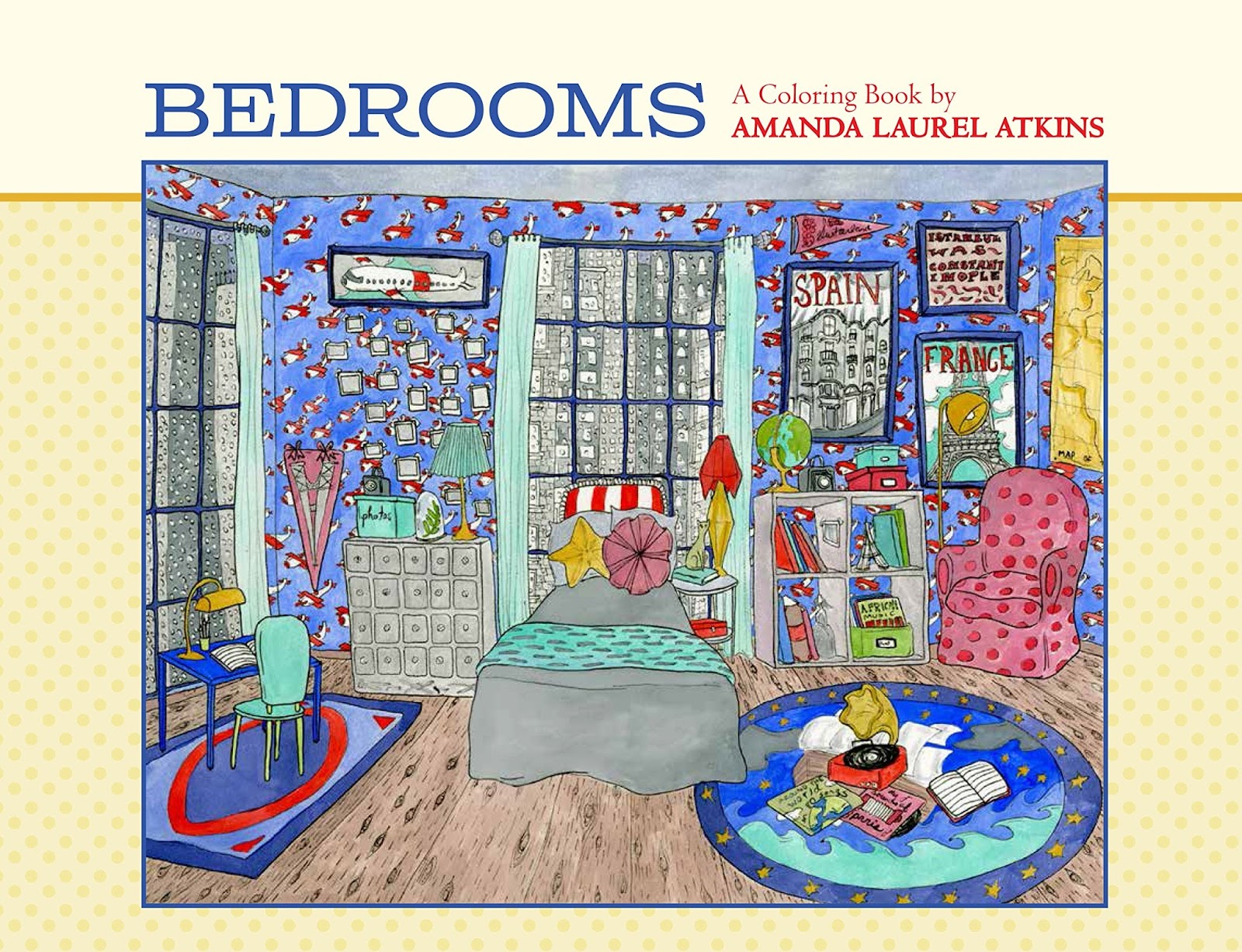a painted journey bedrooms a coloring book for adults