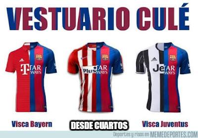 Camisetas del Barça desde Cuartos de Champions