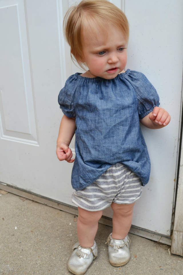 How to Upcycle: Baby Peasant-Style Tunic // DIY Sew