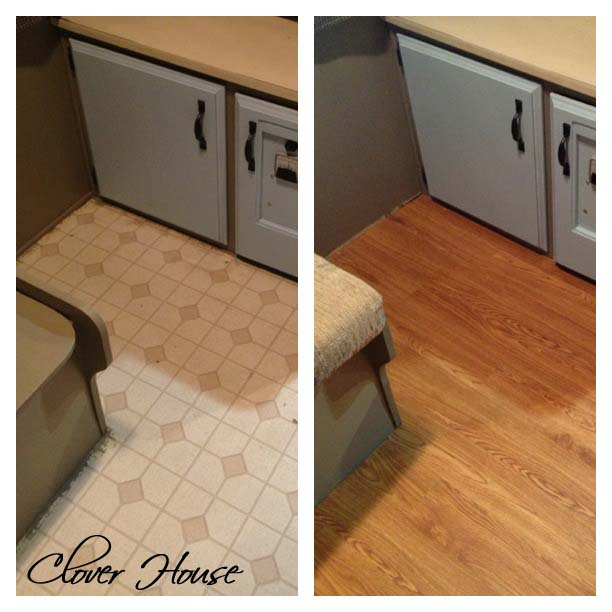 Clover House Rv Remodel On A Budget Floor Update