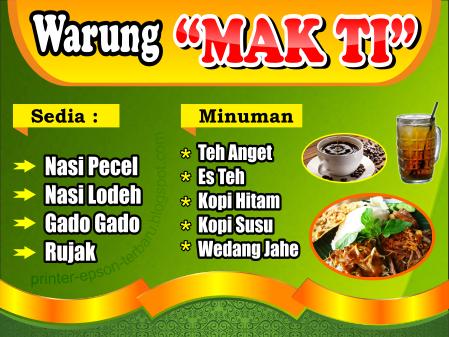 Contoh Spanduk Warung Nasi Goreng - desain spanduk kreatif