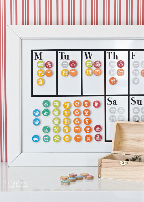 Iheart organizing uheart organizing diy magnetic chore chart with