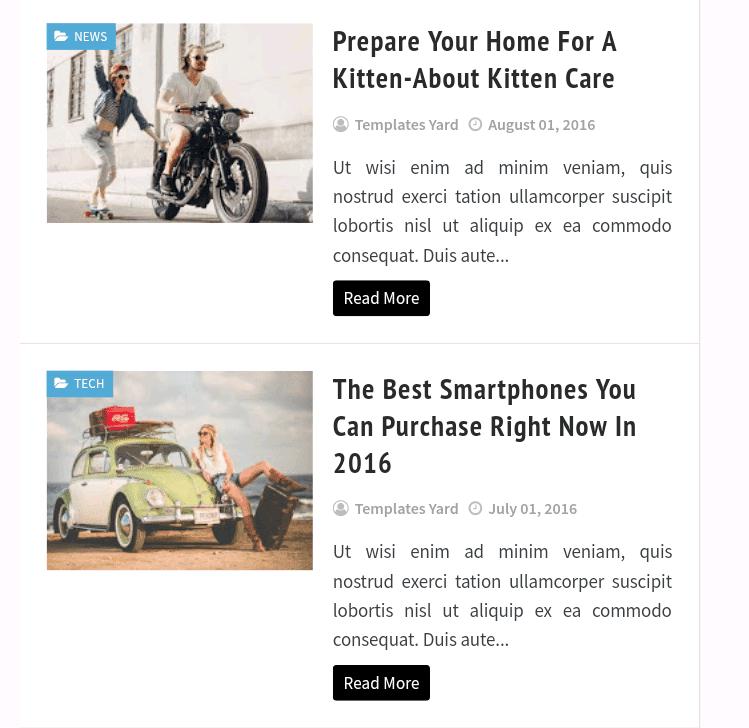 Faster Premium template