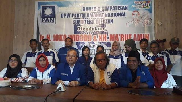 PAN: Pro-Jokowi di Sumsel Bukan Kader, Keterlaluan Bohongnya!